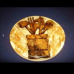 Dining - 3 Country Vintage Egg Plate Napkin Holder Trivet